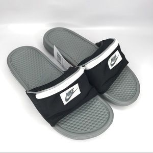 NEW Nike Benassi Fanny Pack Slide Sandals